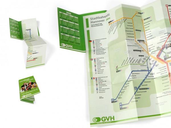 Faltplan mit Umschlag